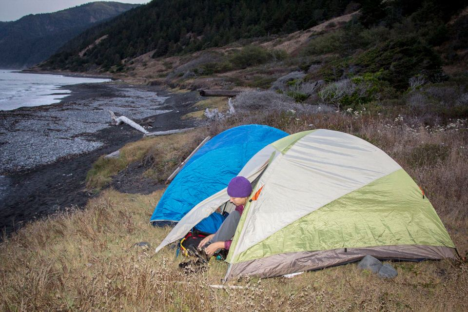 Camping along the Lost Coast Trail