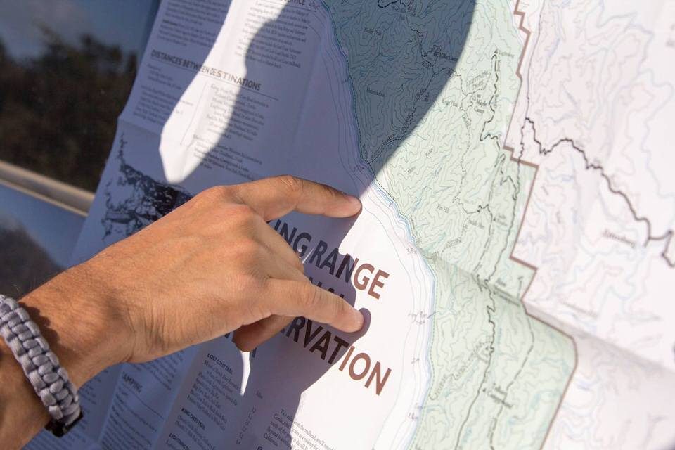 Michael reviewing the Lost Coast Trail map