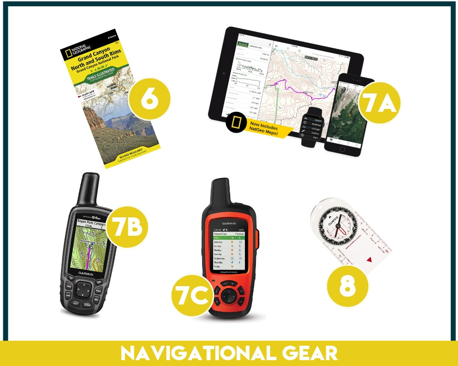 If you're wondering what to take backpacking, navigational gear is at the top of that list! Always bring a map, gps and a compass!