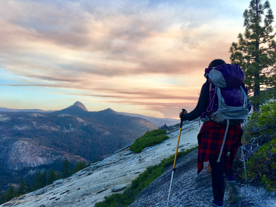 Half dome is one of the best backpacking trails in the US