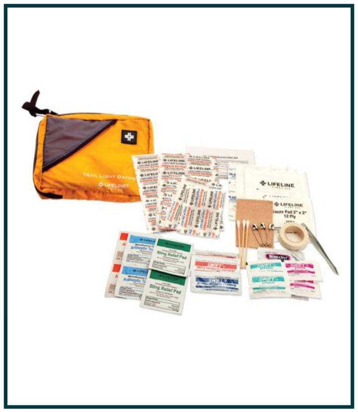 Another essential trekking accessory includes a small first aid kit.