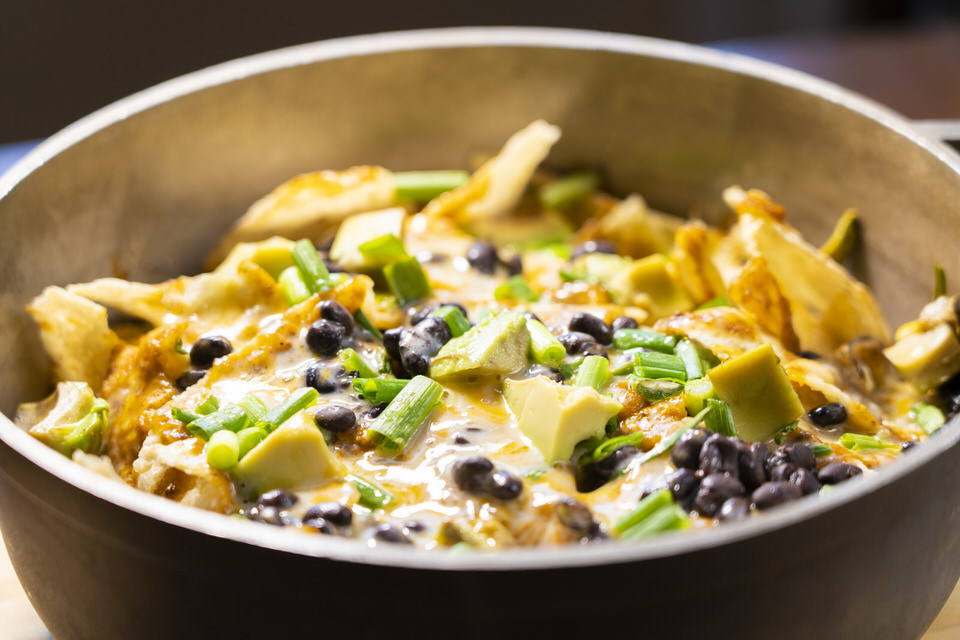 One of my favorite camp dinners we tested were these easy curry camp stove nachos!