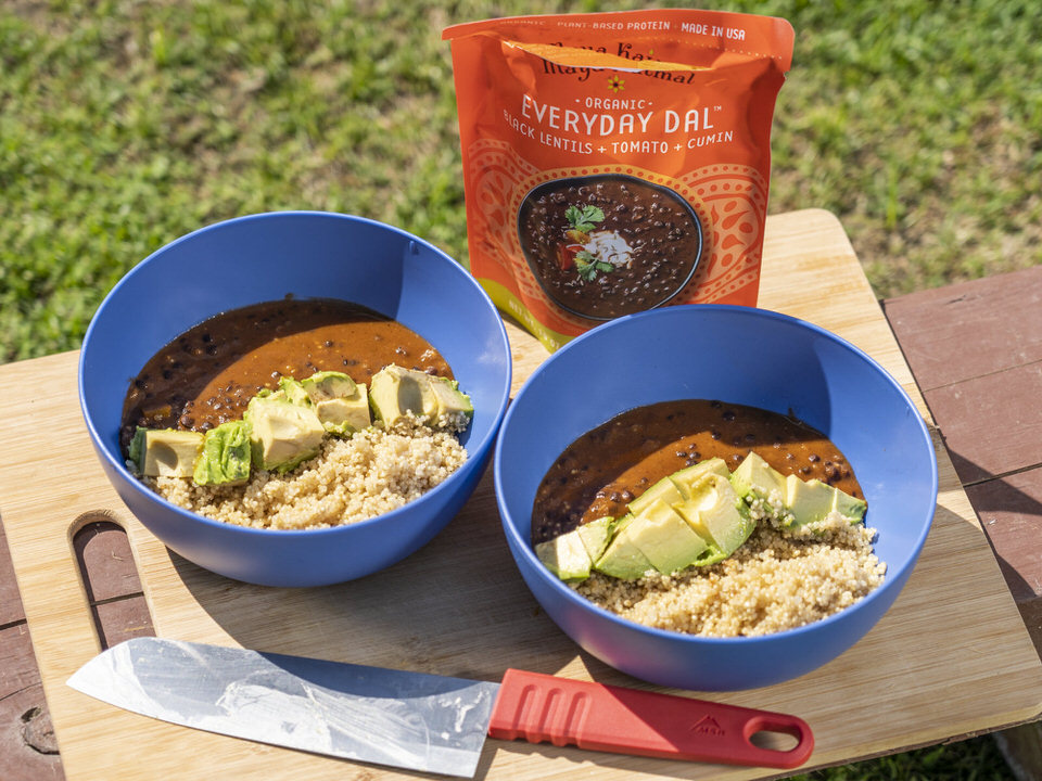 The everyday dals make for quick and easy dinners for camping.