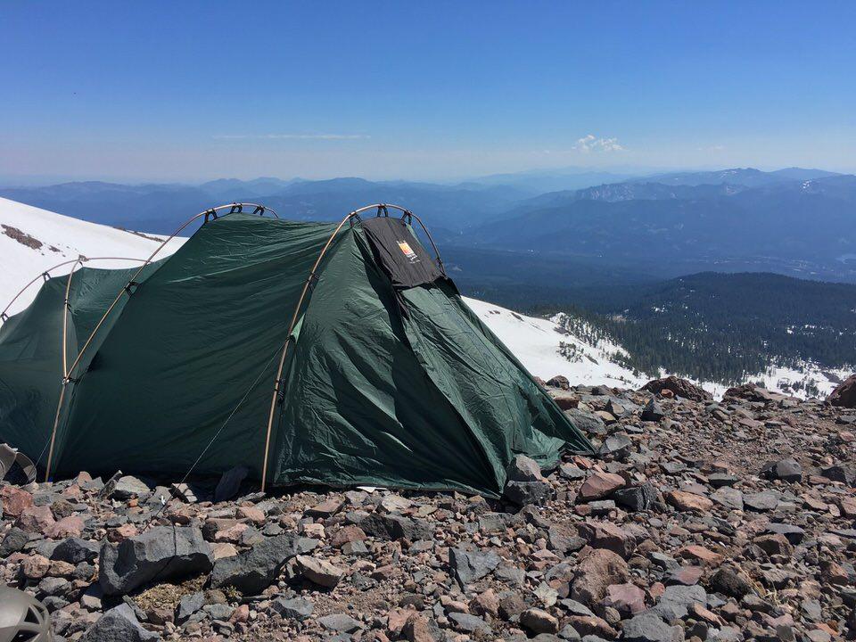 Camping at Helen Lake on Mount Shasta