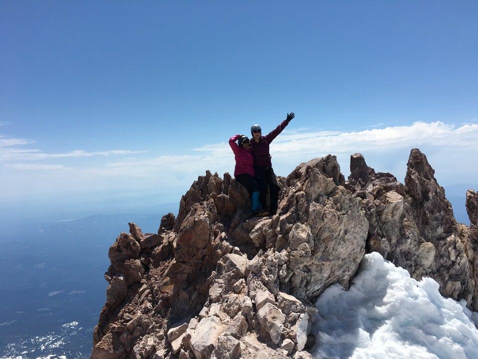 Finally on the summit of Mount Shasta