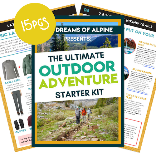 Outdoor Adventure Starter Kit - I created an awesome Outdoor Adventure Starter Kit for you (for FREE). It's filled with 15 pages of my best hiking, backpacking and rock climbing tips, techniques and inspiration to help you hone your outdoor adventure skills and become the ultimate outdoor badass. It's the perfect place to start if you're new around here.
