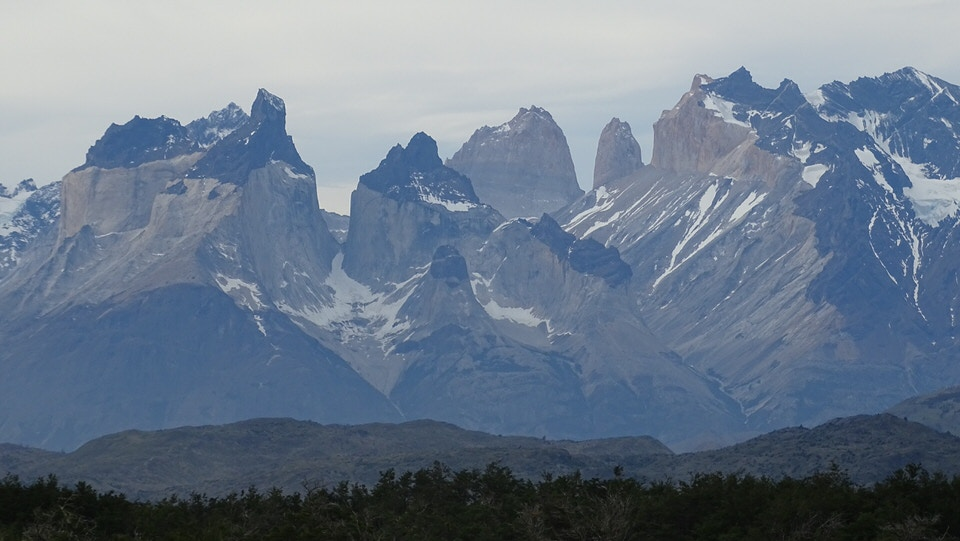 The breathtaking Patagonia Mountains in Torres Del Paine