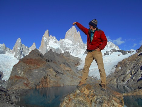 Views from Laguna de Los Tres on a Sunny Day