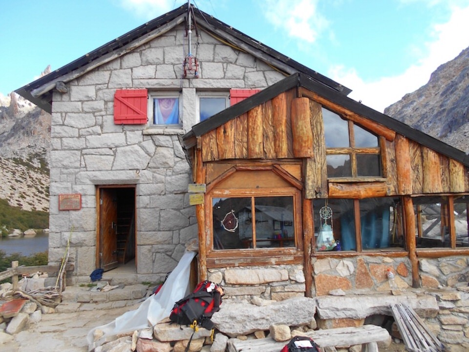 Accommodations and camping at Refugio Frey