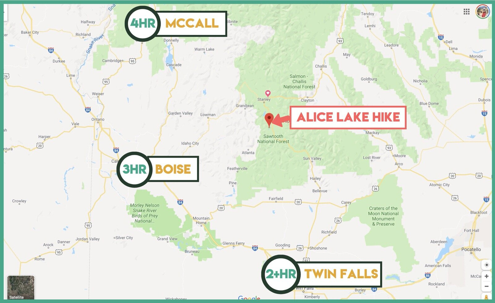 Where is Alice Lake in Idaho