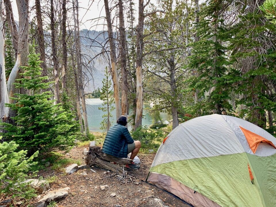 Camping at Twin Lakes along the Alice Lake Loop