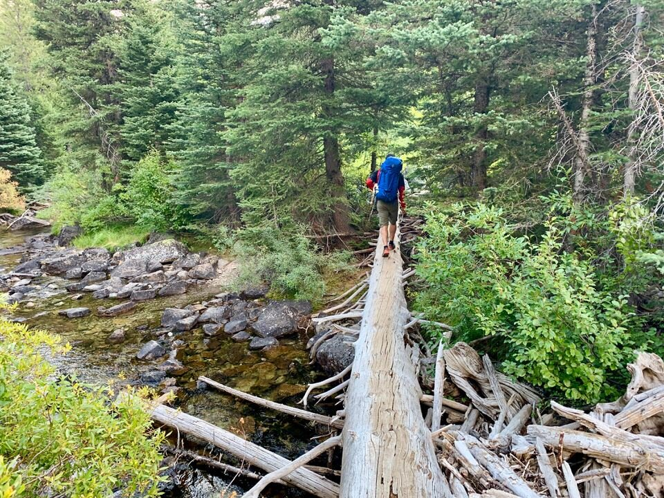 River Crossings along the tin cup trail