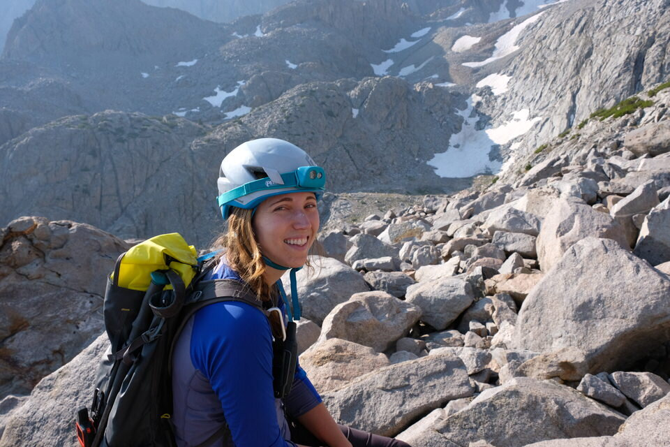 Safety items like the helmet and headlamp make for great gifts for rock climbers.