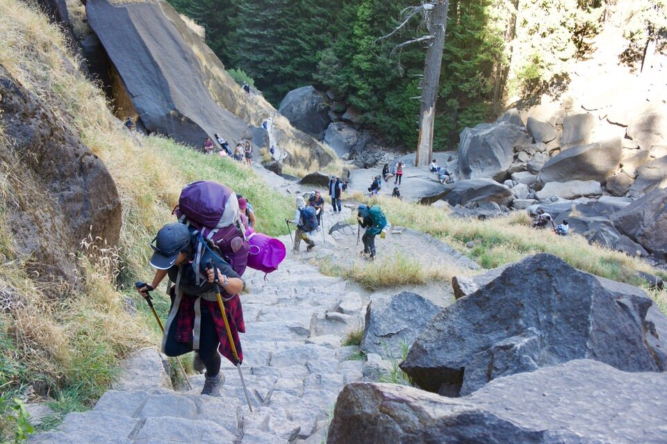 """You'll want to grab a Yosemite Wilderness permit and """"add on"""" Half Dome in order to backpack Half Dome."""