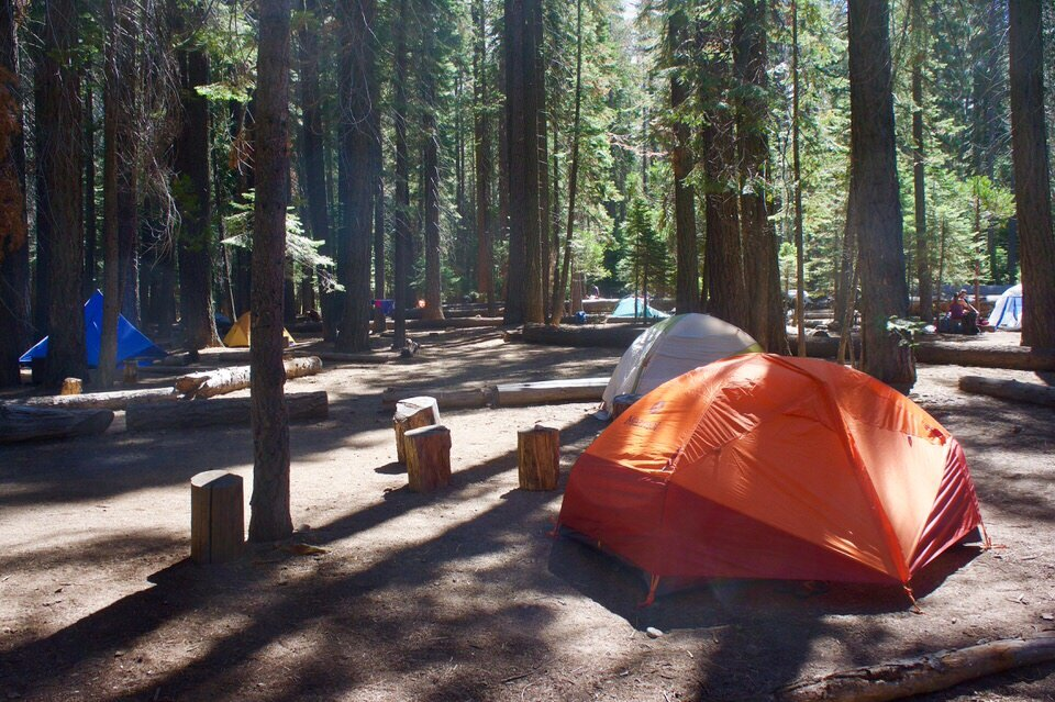 Many people camp at Little Yosemite Valley when backpacking Half Dome.