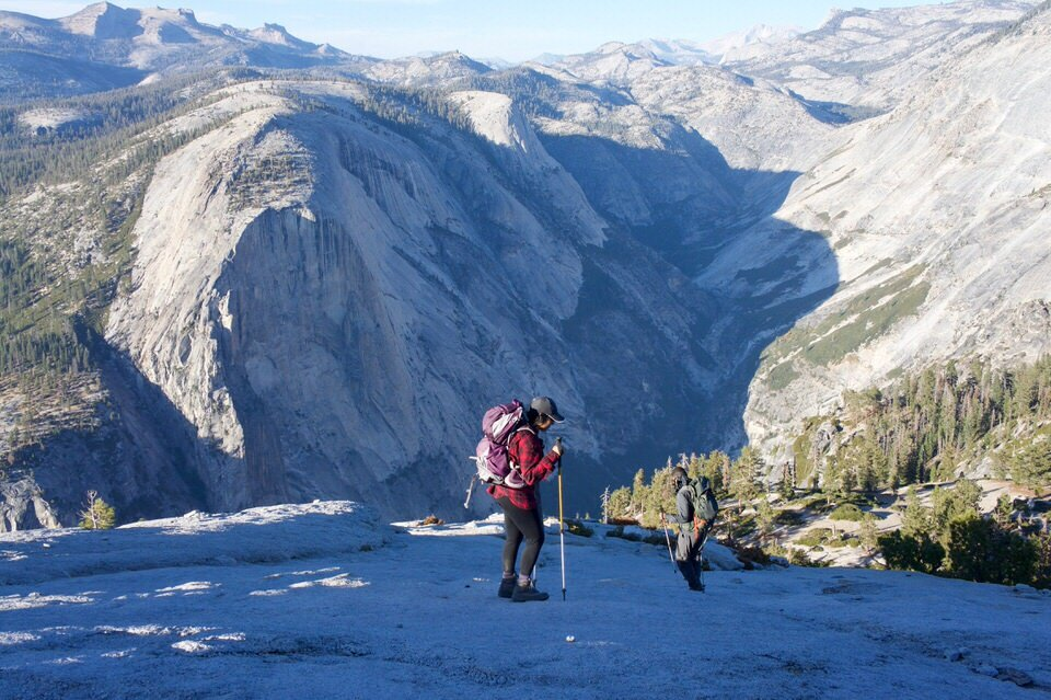 If you begin your backpacking trip outside of Yosemite, you will not receive a Half Dome permit with your wilderness permit.