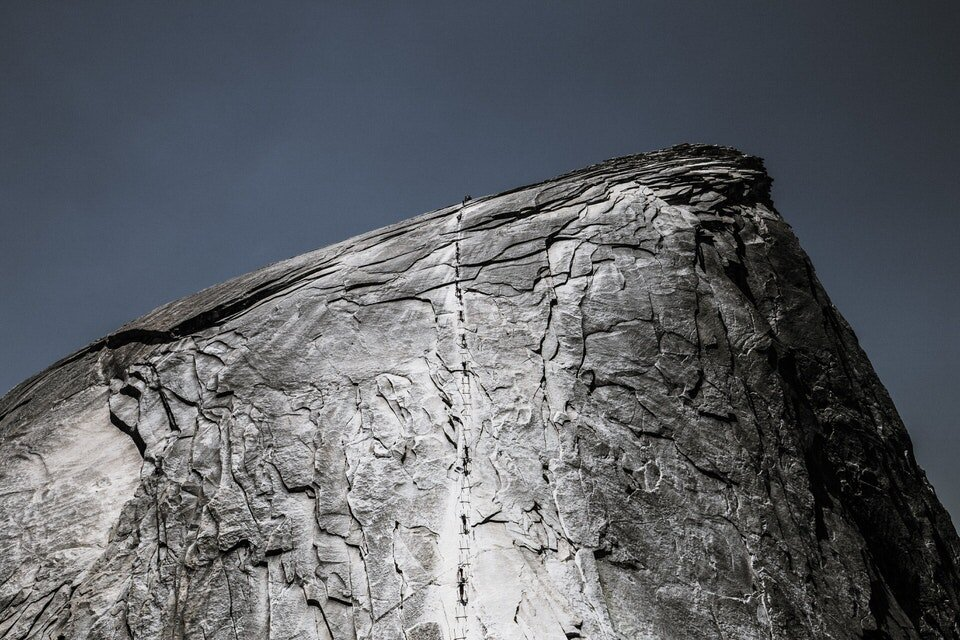 Weekends are definitely more crowded on the Half Dome hike.