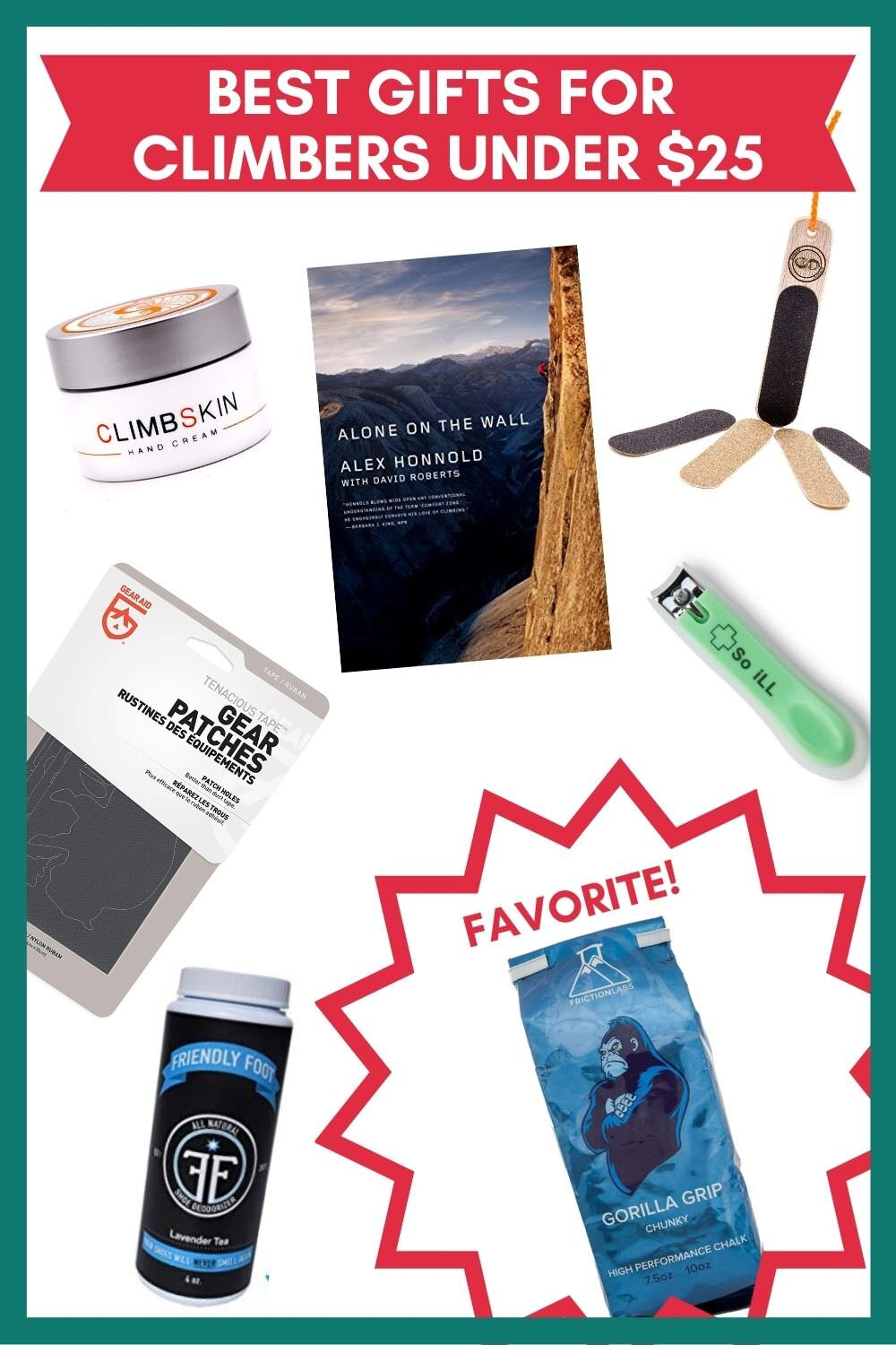 Great gift ideas for climbers under $25.