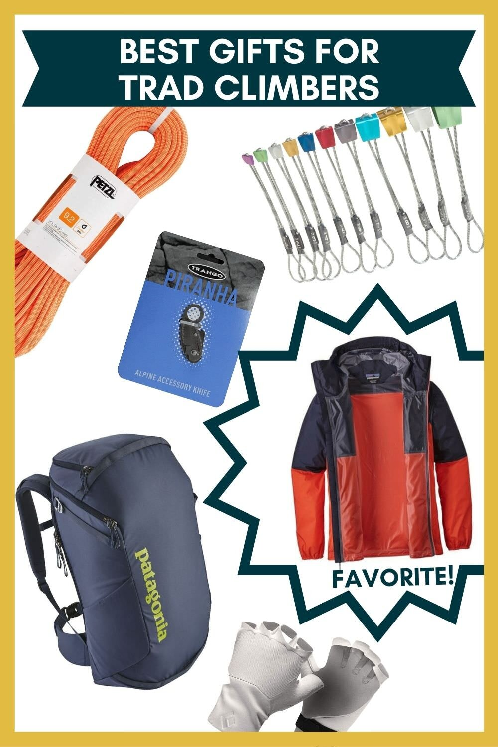 Best gift ideas for trad climbers.