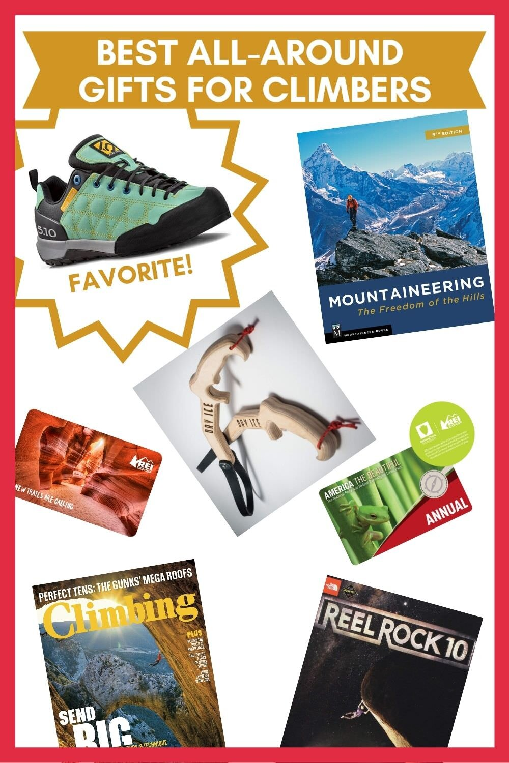 Great all-around great gifts for climbers