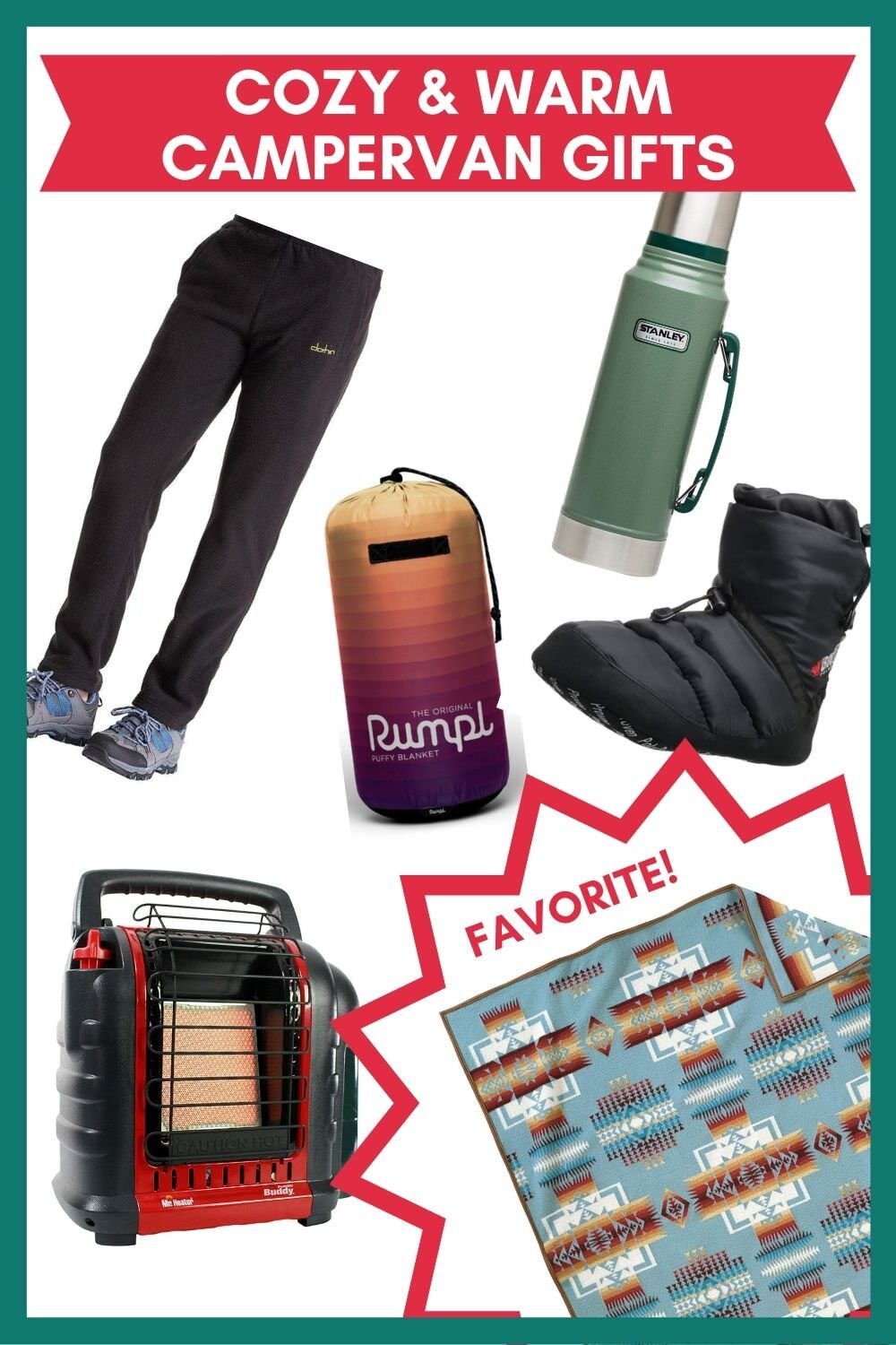 Cozy and Warm campervan accessories gift ideas.