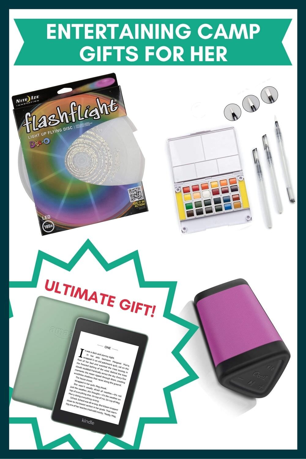 Entertaining camping gift ideas for her.