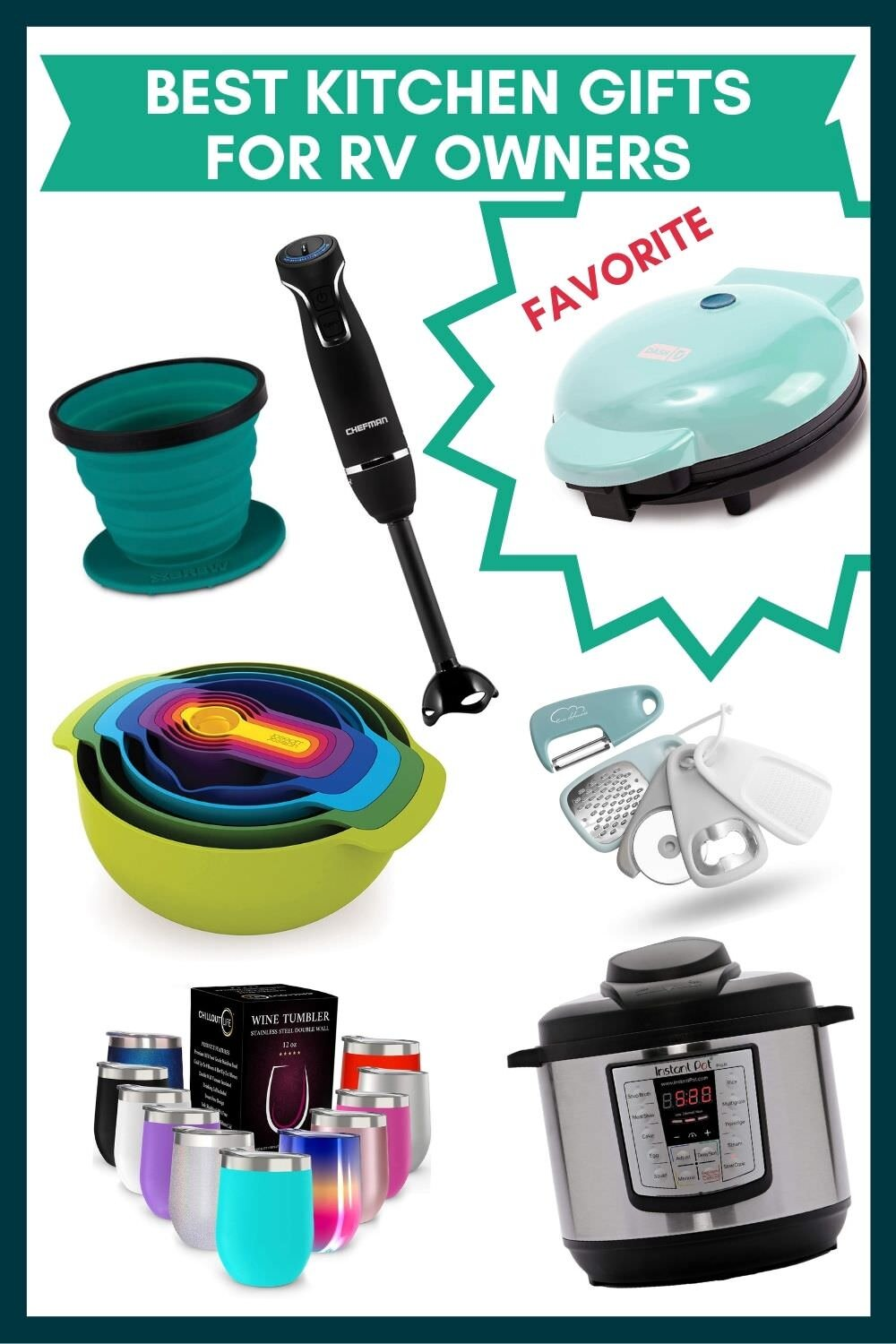 Best Kitchen gift ideas for RV Owners.