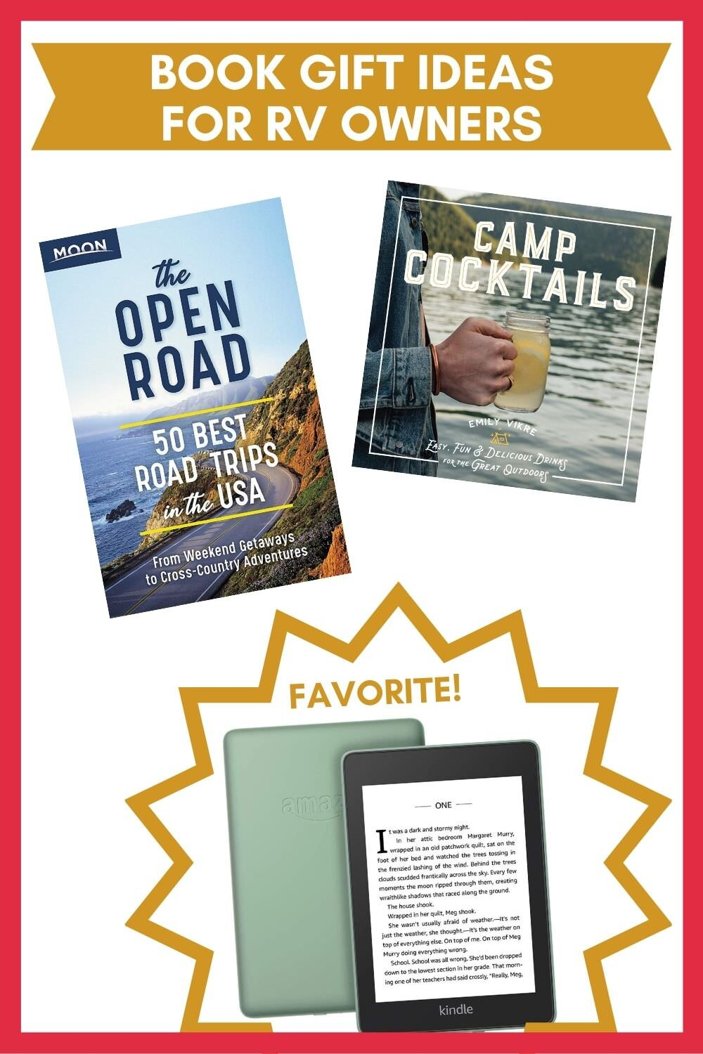 Book related Christmas gifts for RV Owners