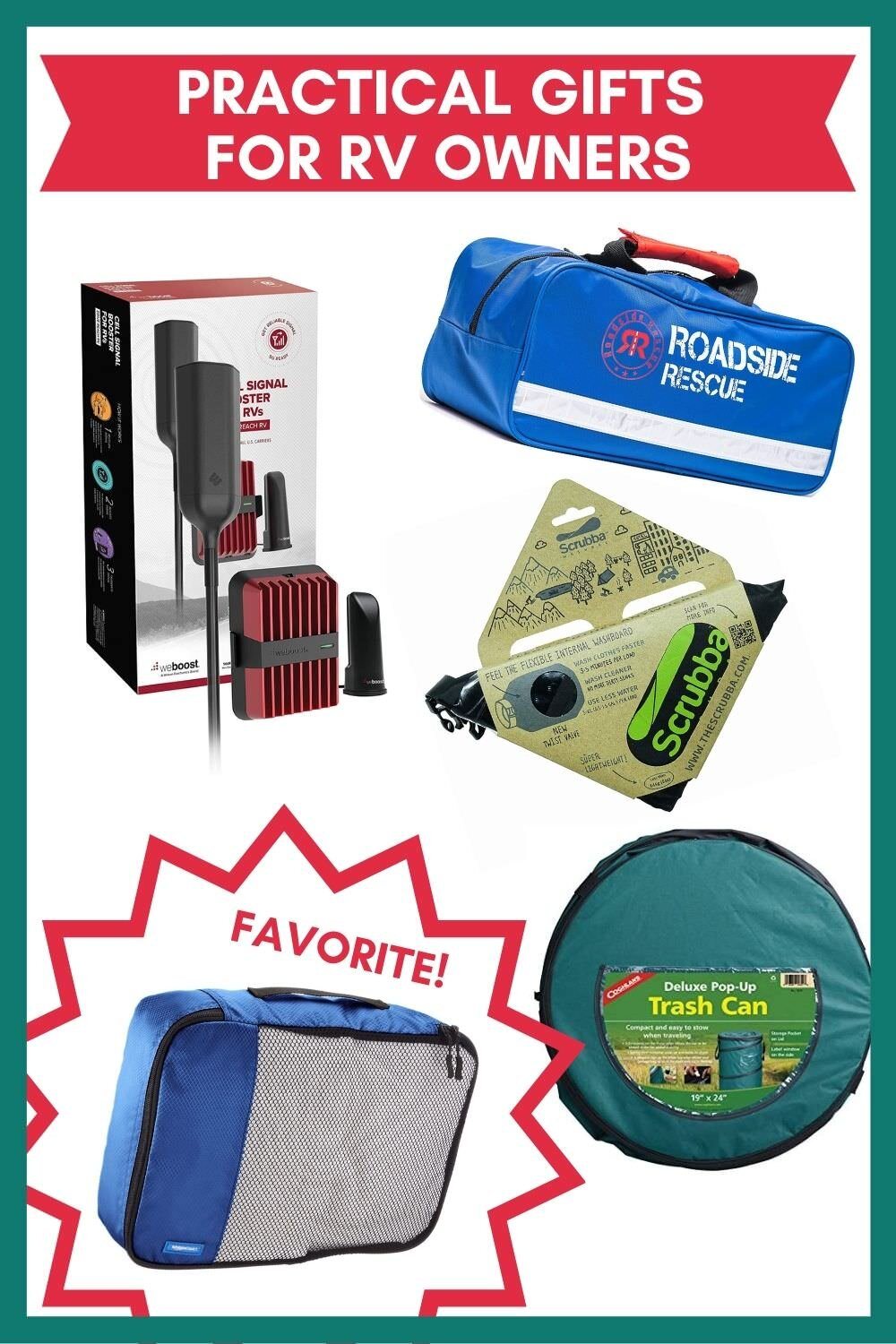 Practical gifts for motorhome owners.