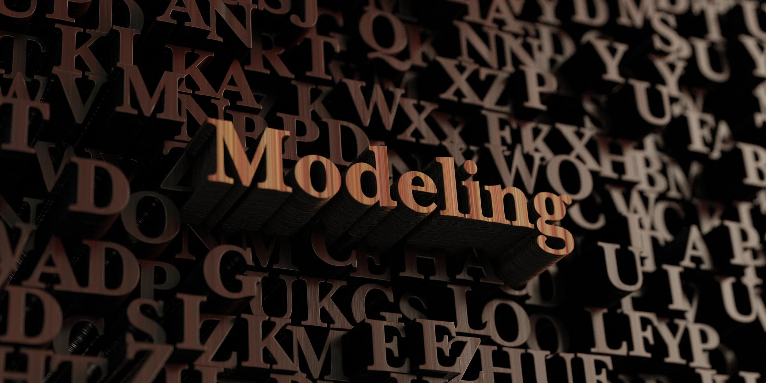 Modeling - Wooden 3D rendered letters/message.  Can be used for an online banner ad or a print postcard.