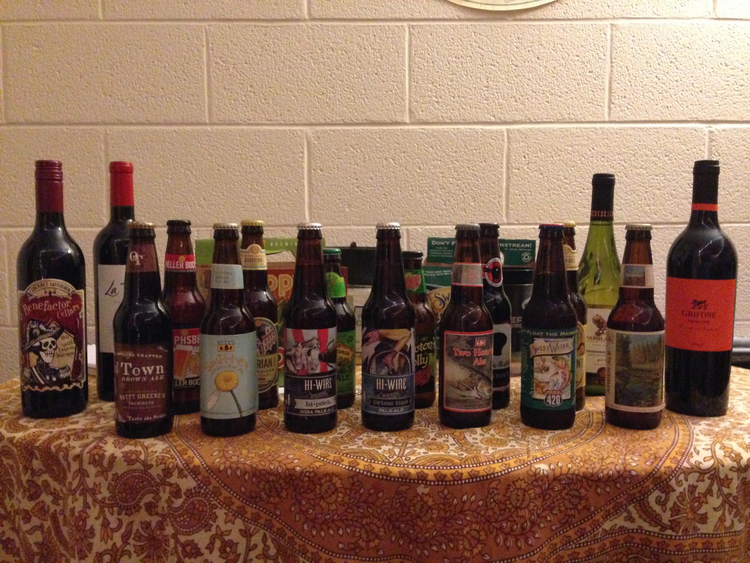 Twenty-one bottles for Madeline's 21st birthday.