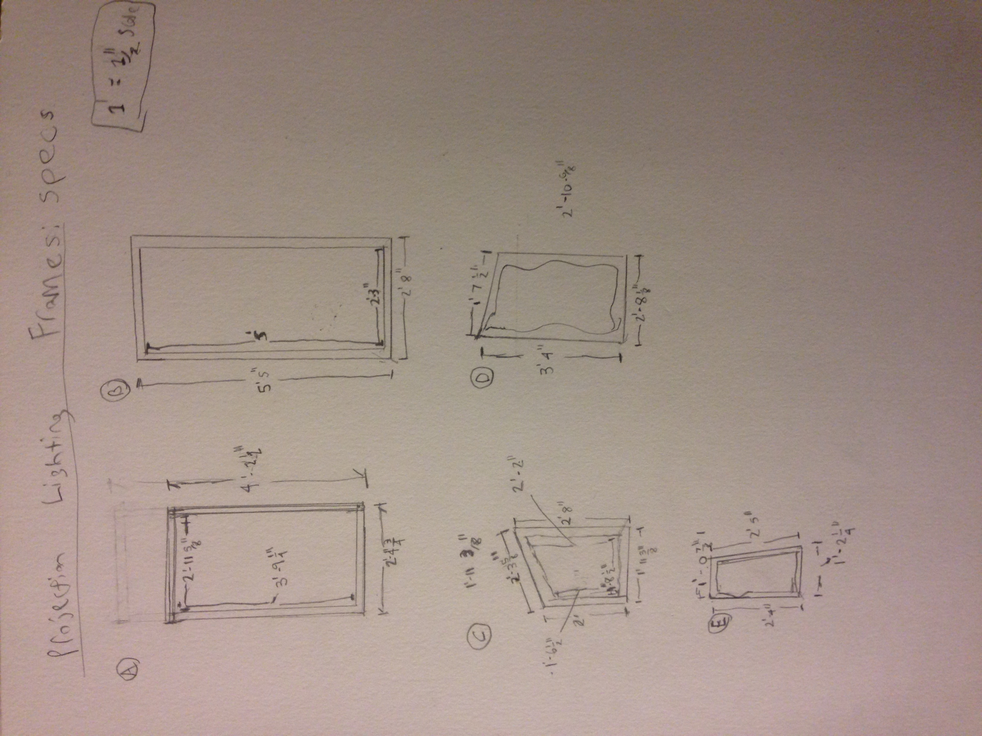 Frame designing/drafting for the projection mapping.
