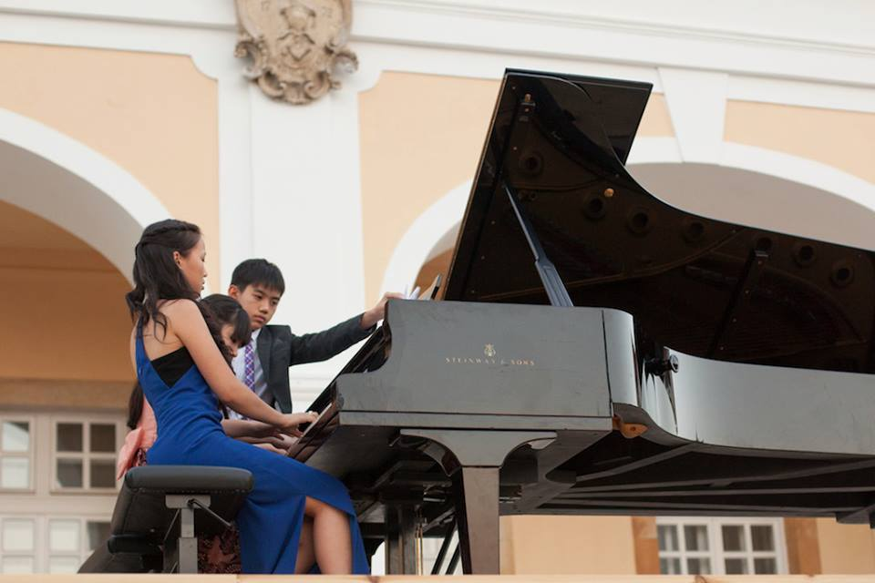 Piano Four-Hands with Stephanie Onggowinoto -Adam Gyorgy Castle Academy, 2013