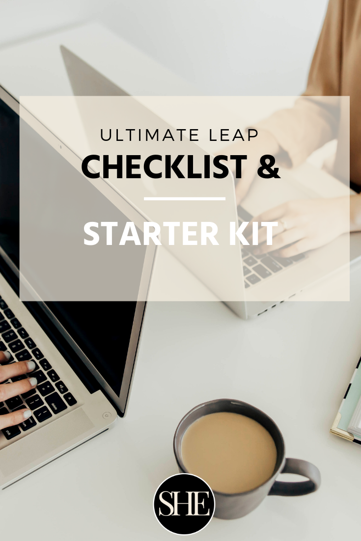 Ready to make your ultimate leap & build your service based business? - A checklist and guide to help get you started if you want to leave your 9-5, replace your income and design a business you love.