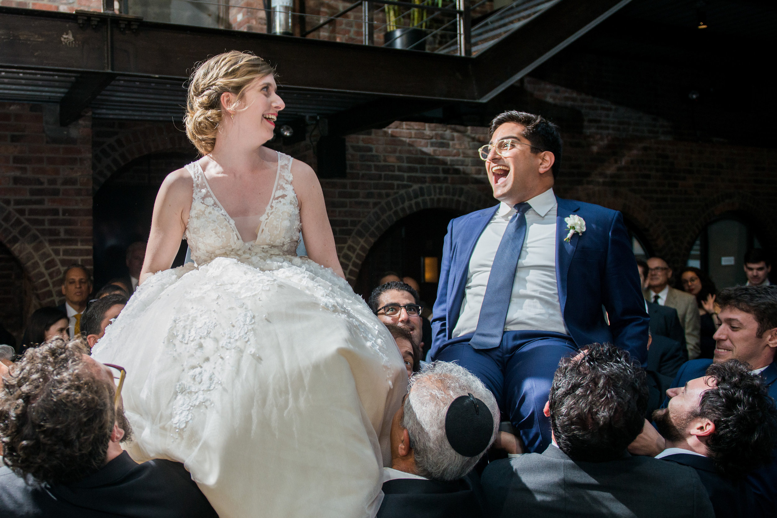 Tall & Small Events NYC, B+B, Modern Urban Industrial Jewish Outdoor Summer Wedding, New York City Real Wedding at The Foundry, LIC NY. Photo: Andrea Fischman Photography