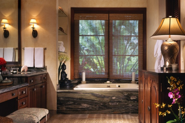Upscale bathroom in Bird of Paradise, one of the villas for rent on Anguilla