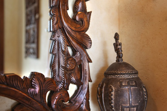 Antique mirror and artifact