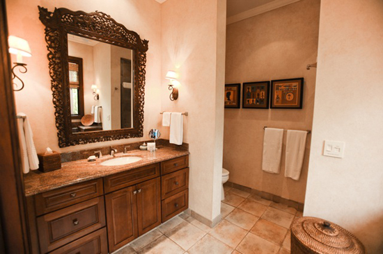 Suite #4 bathroom with antique mirror frame