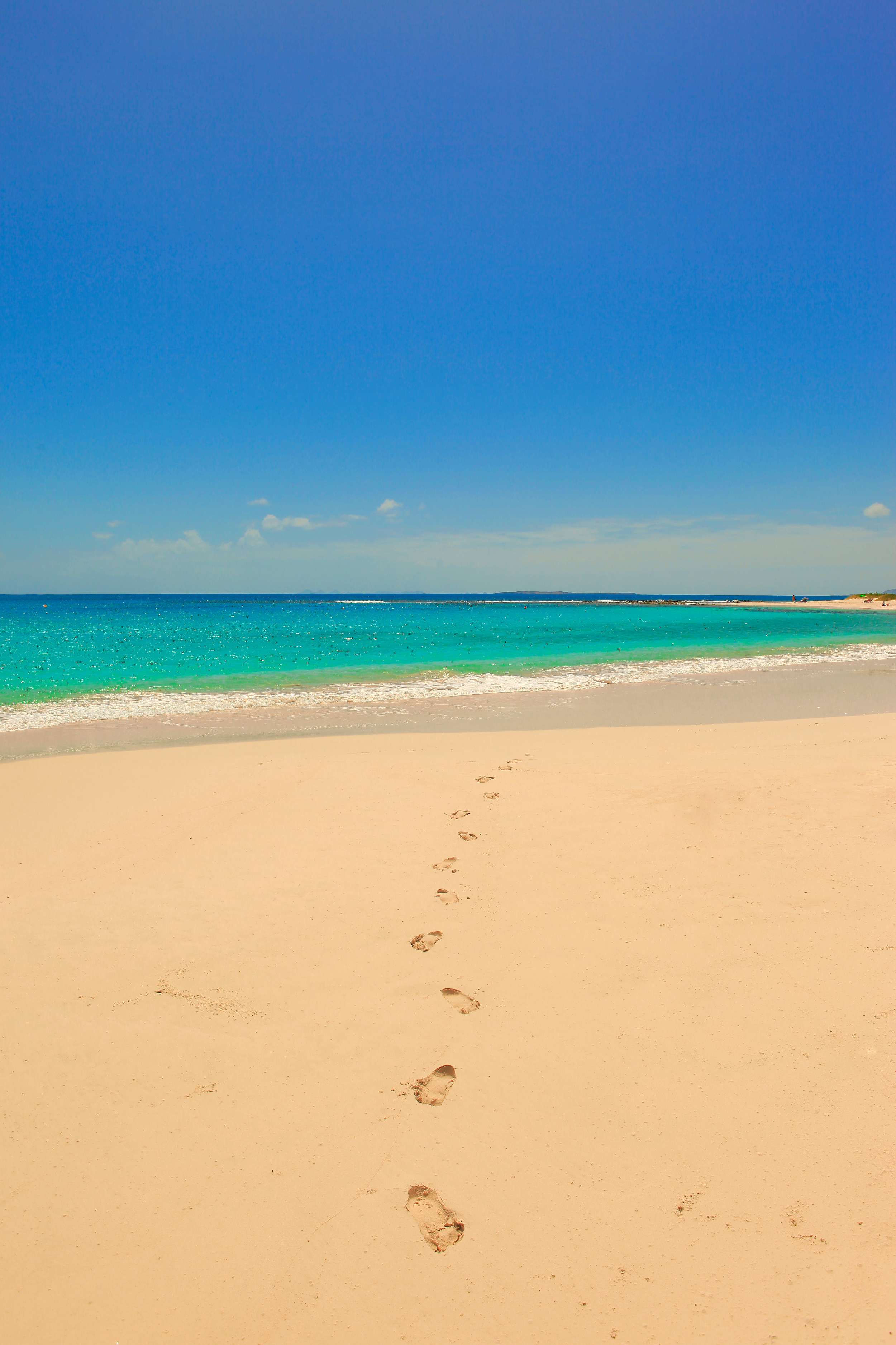 Sandy Hill Bay beach is excellent for swimming, snorkeling, walking, or just private relaxation.