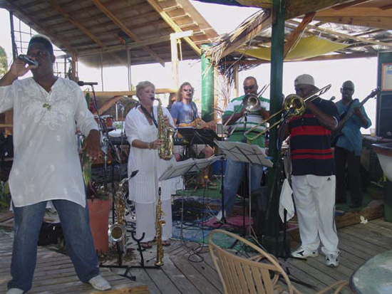 One White Chick band from St. Maarten at The Dune Preserve