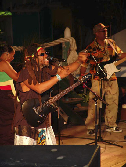 Steel Pulse reggae band from Jamaica at Moonsplash