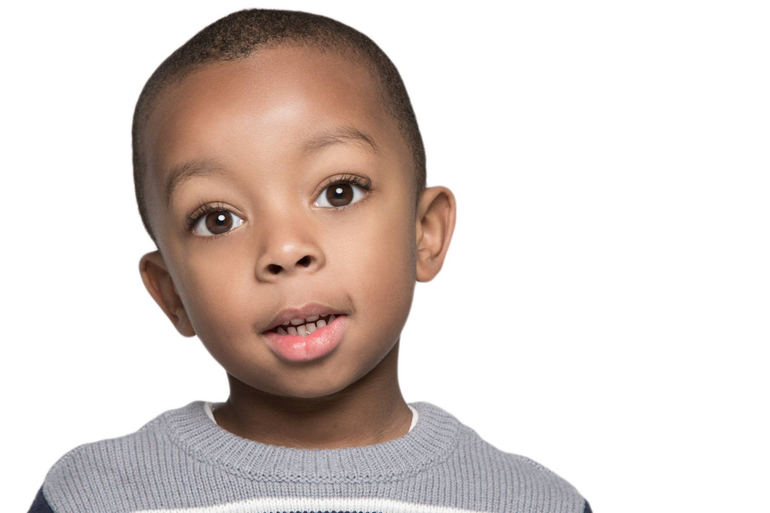 Boy Children Portrait on White Background by Lamonte G Photography Orlando