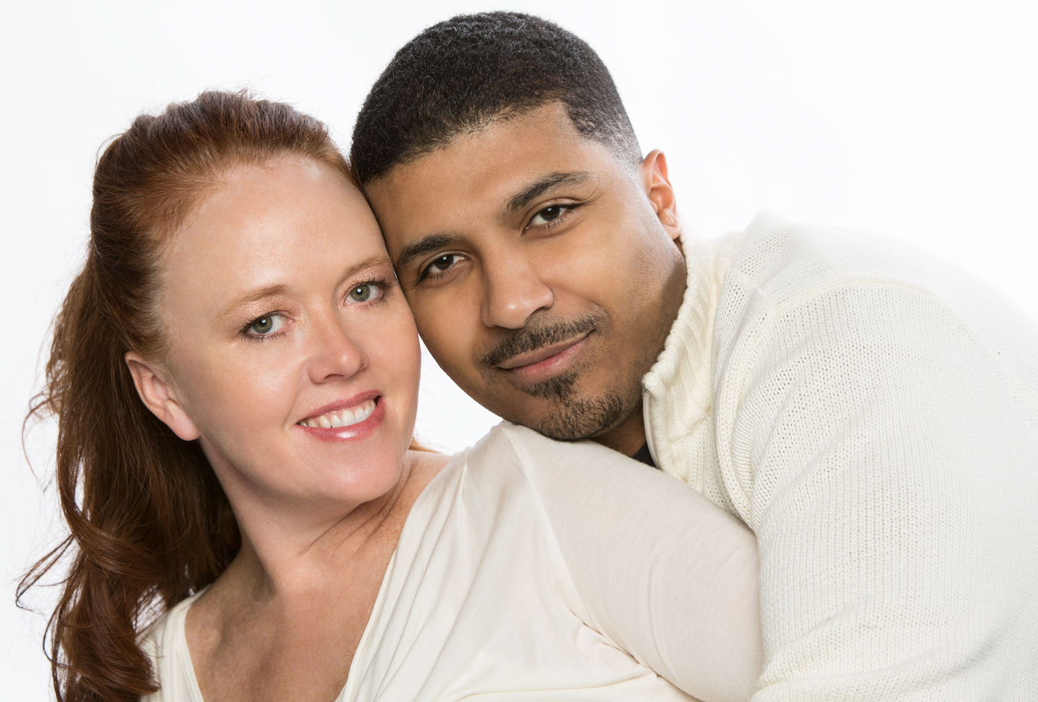Couple Portrait on White Background by Lamonte G Photography Orlando