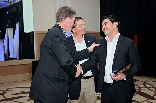 Tom Poe – Crystal Distribution Services Inc – USA, and Richard Tracy – Vice President International Programs - GCCA with Jeffrey Tusa - 2014 Frank Vale Award Winner