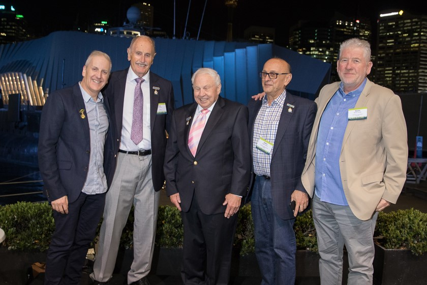 (Left to right): Life Membership Award Recipient Paul Fleiszig, Director Oxford Logistics Group, Ross Bell former Managing Director Swire Cold Storage, Doug Cory, former managing Director Doboy Cold Stores, Gabor Hilton, Chief Engineer, AB Oxford Logistics , Martin Porter, Managing Director, Retracom Group. All are Life Members of the RWTA