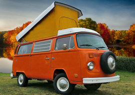 1975 VW WestfaliaPhoto-Bus - The iconic VW Bus. Always a crowd pleaser.