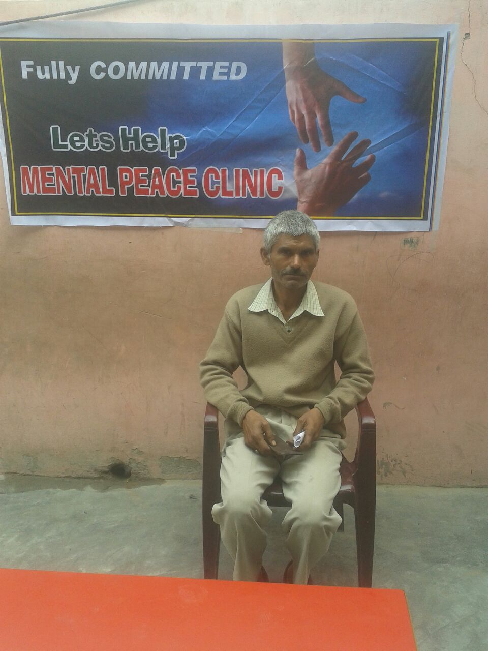 This is Mohinder. One of our clinicians diagnosed him with depression. He has been attending weekly therapy session arranged for by our staff.