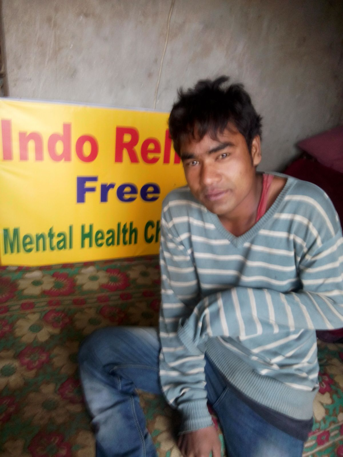 Meet Chintan. He says that he hears voices that tell him to do dangerous things. He told us that one of the voices was telling him to jump in front of a train. We are providing him with medication and counseling for schizophrenia.
