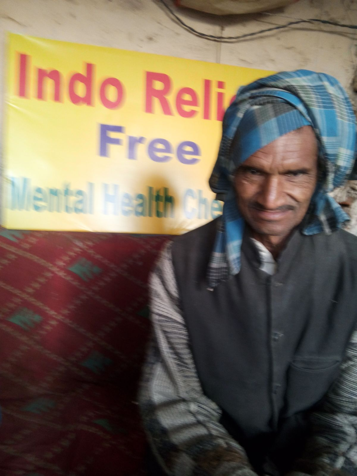 This is Kripal. He is 64 years old. He wants to learn more about mental health.
