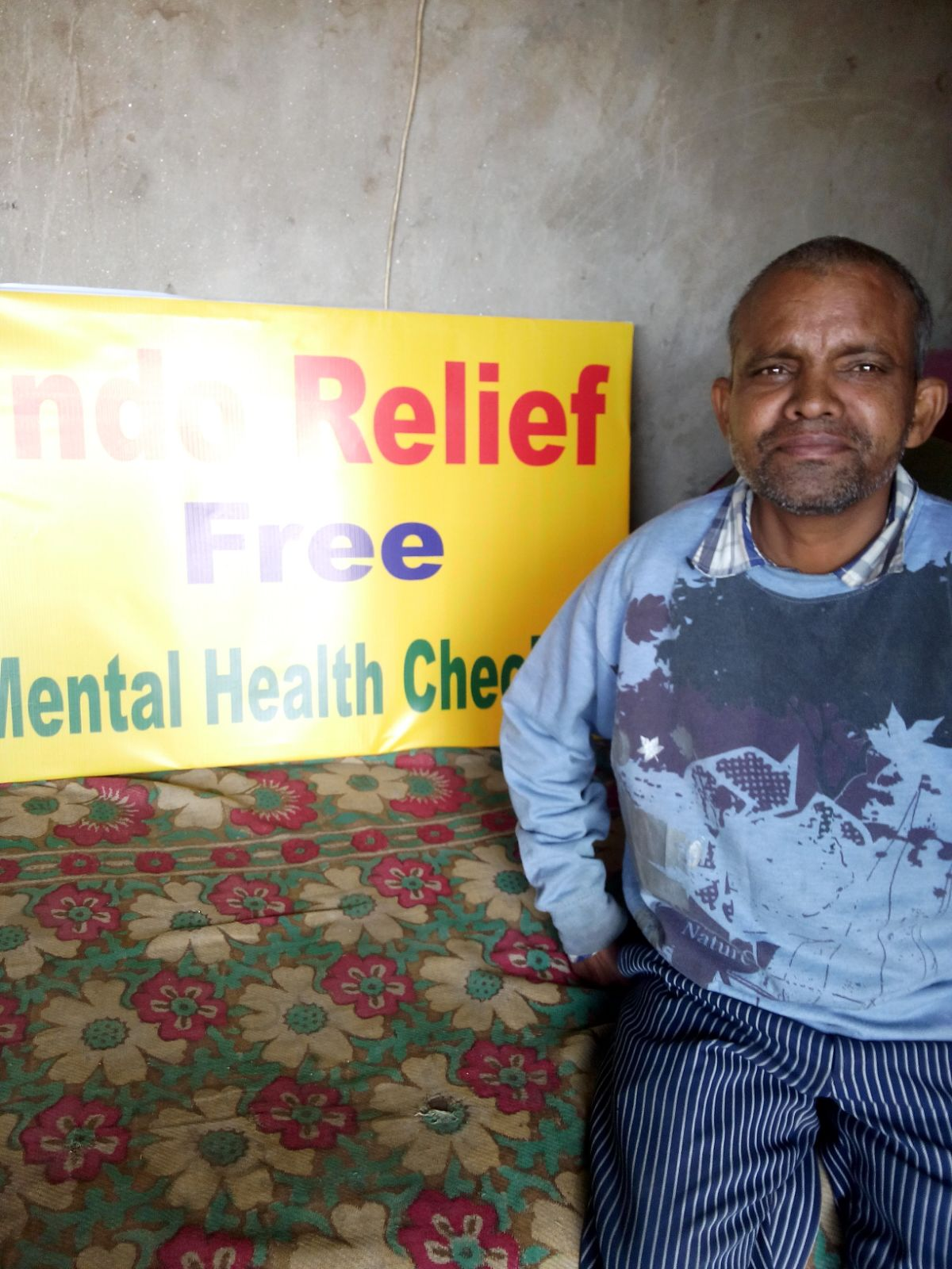 Meet Chitesh, a 48 year old male. He wants to learn more about mental illness. He says his wife often cries, and he is worried about her.